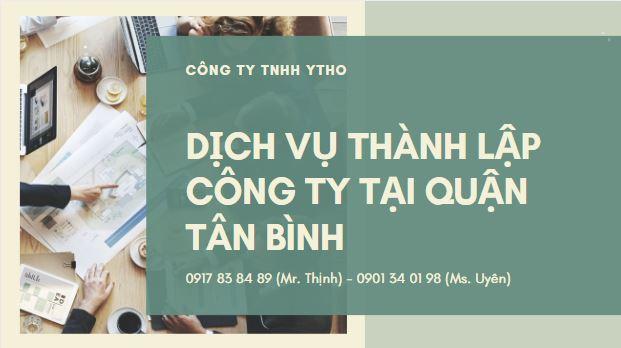 Dịch vụ thành lập công ty tại quận Tân Bình