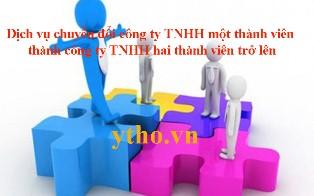 Dịch vụ chuyển đổi công ty TNHH một thành viên thành công ty TNHH hai thành viên trở lên