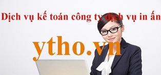 Dịch vụ kế toán công ty dịch vụ in ấn