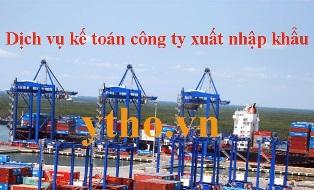 Dịch vụ kế toán công ty xuất nhập khẩu