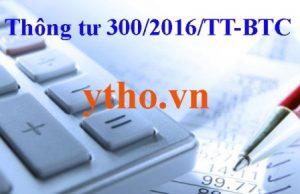 thông tư 300/2016/TT-BTC
