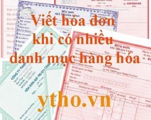 Viết hóa đơn khi có nhiều danh mục hàng hóa