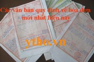 Các văn bản quy định về hóa đơn mới nhất hiện nay
