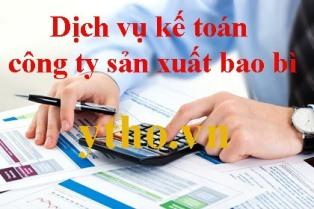 Dịch vụ kế toán công ty sản xuất bao bì