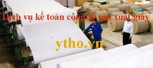 Dịch vụ kế toán công ty sản xuất giấy