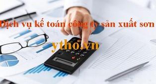 Dịch vụ kế toán công ty sản xuất sơn