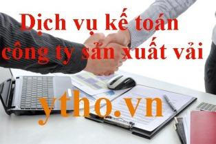 Dịch vụ kế toán công ty sản xuất vải