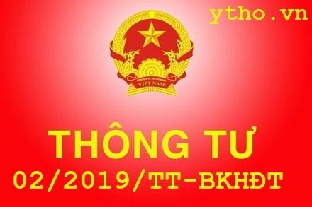 Thông tư 02/2019/TT-BKHĐT
